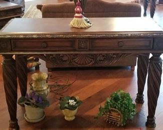 Beautiful ornate matching end tables and sofa table