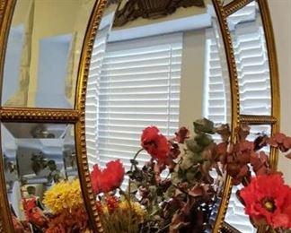 Stunning large beveled mirror