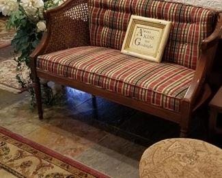 Custom upholstered settee