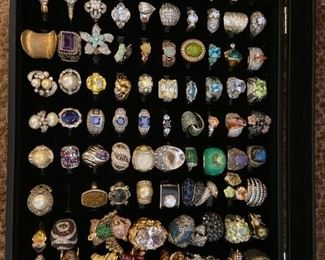 rings with a variety of gems