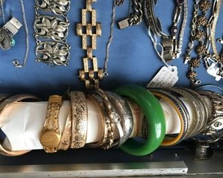 Collection of Victorian gold filled bangle bracelets