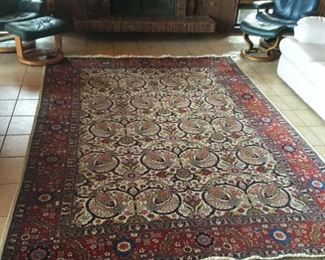 Gorgeous vintage 8' x 10' handmade Persian Isfahan carpet, recently cleaned by Kate Blatchford.