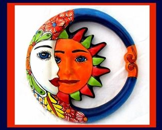 Talavera Moon and Sun Wall Art