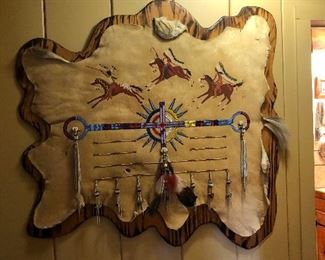 Deer skin Indian art