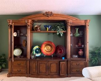 5 Piece beautiful entertainment center.  Adjustable to fit any size TV