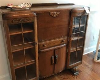 Art Deco Oak desk - great bar!