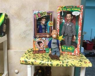 Vintage toys, Ernest P and Pee-Wee Herman
