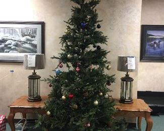 lamps, Christmas trees