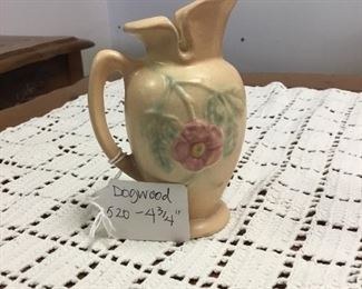 Vintage Hull pottery:  Dogwood 520 - 4 3/4
