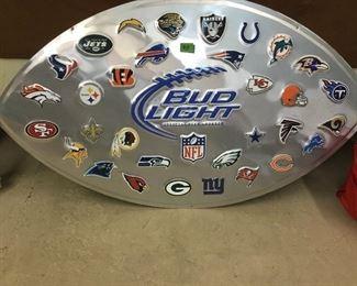 Bud Light NFL wall sign
