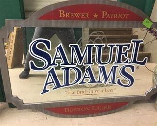 Samuel Adams Bar mirror