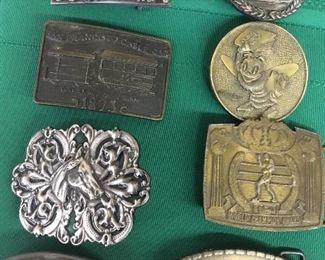 Collectible belt buckles