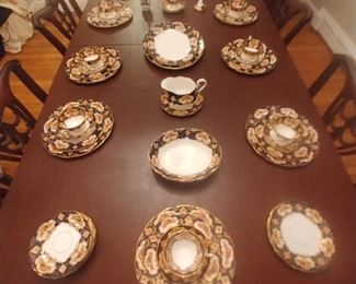 Stunning service of 8 of Royal Albert heirloom English bone china Only $550 for the entire service with extras