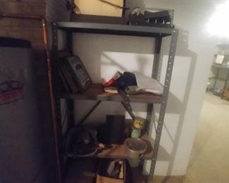 Metal shelf $10