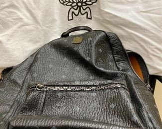 MCM large leather backpack great condition