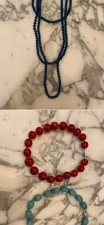 Coral Turquose necklaces