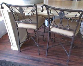 4 iron chairs