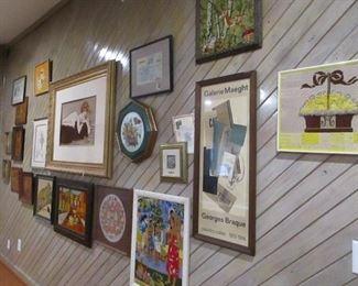 wall full of Art work