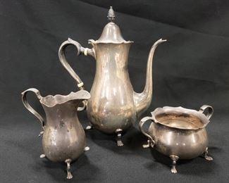 3 pcs. Set Exemplar - Repro circa 1790 Sterling Silver , 23 oz.