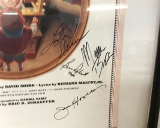 movie poster signed