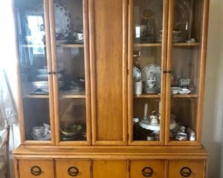 Two piece china cabinet