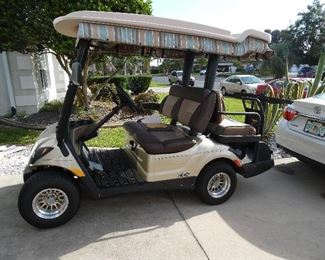 2012 1/2, Yamaha Gas Cart, EFI, Extended Roof, Upgraded Deluxe Seats, Large Side Mirrors, Cooler under back seat. $6500
