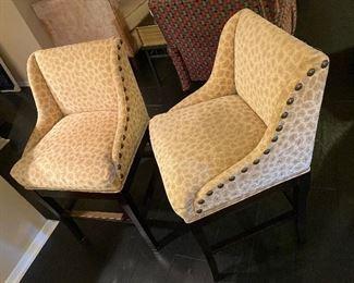 Two Ballard Designs swivel bar stools
