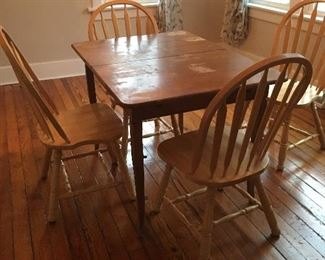Small table(chairs not for sale)