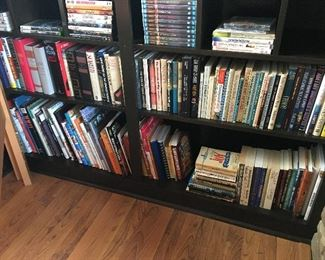 Many books( most .25-.50) dvds (most .50)