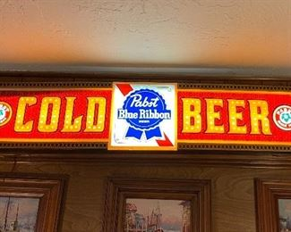 Vintage PBR light up beer sign