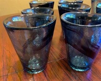 Assorted blown glass drinking glasses https://ctbids.com/#!/description/share/293116