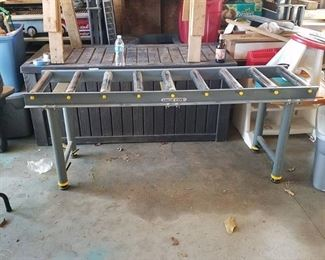 shop Fox roller conveyor