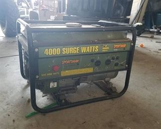sportsman generator - 4000 Surge Watts - turns over freely - untested