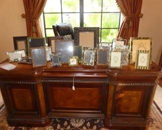 Executive Desk & Picture Frames