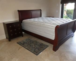 Queen Sleigh Bed & Mattress