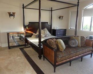 Lexington King bedroom set with Henry Link Sofa