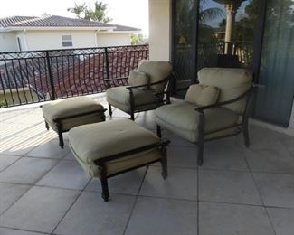 Castelle Patio Lounge Chairs & Ottomans