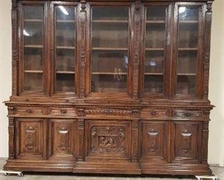 Large French Henri II Bookcase