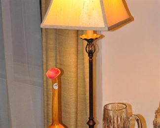 Great home decor available throughout including vintage crystal and blown glass!