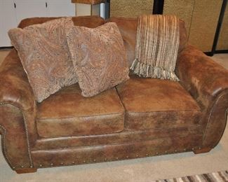 """Matching Leather loveseat also by Broyhill,  66""""w x 36""""h x 36""""d"""
