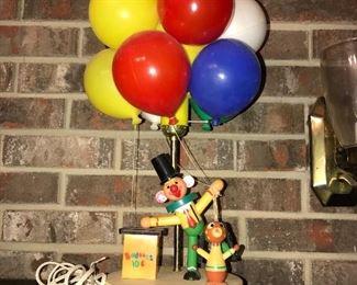 1950's Balloon Lamp- works!