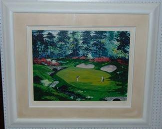 "Mark King Limited Edition Serigraph ""Augusta Landscape #13"""
