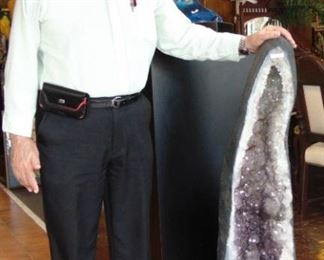 Giant Brazilian Amethyst Geode Cathedral 240 pounds