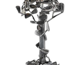 Custom Made Golf Club Table Lamp by Jeff Diamond