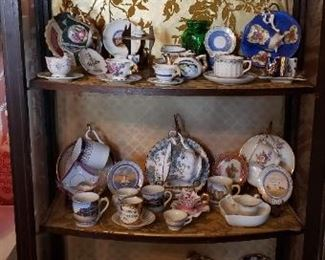 demitasse sets, tea cups and saucers