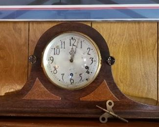 vintage clock with key