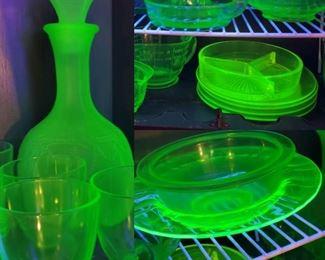 Vintage Uranium Glass