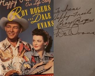 Roy Rogers autographed book