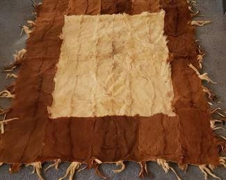 animal hide quilt