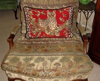 RAMSES DESERT - OLD WORLD COUNTRY ACCENT CHAIR, WE HAVE THE PAIR